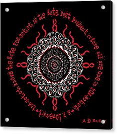 Celtic Lovecraftian Cosmic Monster Deity Acrylic Print
