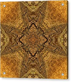 Celtic Mandala Abstract Acrylic Print by Georgiana Romanovna