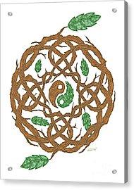 Celtic Nature Yin Yang Acrylic Print