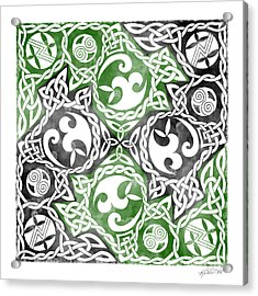 Acrylic Print featuring the photograph Celtic Puzzle Square by Kristen Fox