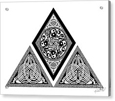 Acrylic Print featuring the mixed media Celtic Pyramid by Kristen Fox