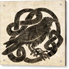 Celtic Raven Knot Acrylic Print