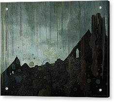 Acrylic Print featuring the painting Celtic Ruins by Ivana Westin