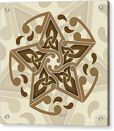 Acrylic Print featuring the mixed media Celtic Star by Kristen Fox