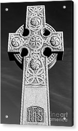Celtic Stone Cross At Sunset Acrylic Print by Gary Whitton