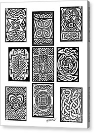 Acrylic Print featuring the drawing Celtic Tarot Spread by Kristen Fox