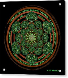 Celtic Tree Of Life Mandala Acrylic Print