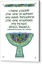 Celtic Wedding Goblet Acrylic Print