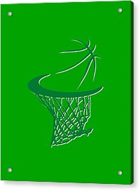 Celtics Basketball Hoop Acrylic Print by Joe Hamilton