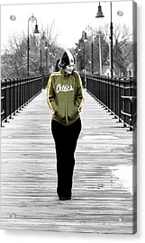 Celtics Girl Acrylic Print by Greg Fortier
