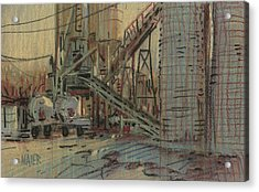 Cement Company Acrylic Print by Donald Maier
