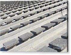 Cement Seats Acrylic Print by Gaspar Avila