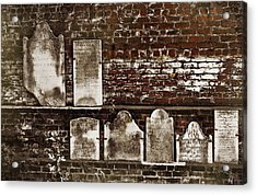 Cemetary Wall Acrylic Print by JAMART Photography