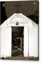Cemetery Acrylic Print by Amarildo Correa