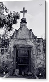 Cemetery At Mission Santa Barbara I Acrylic Print by Steven Ainsworth