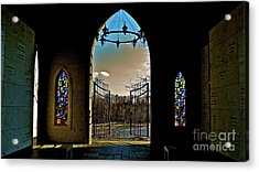 Cemetery Chapel 2 Acrylic Print by E Robert Dee