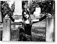 Cemetery Girl Acrylic Print