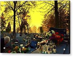 Cemetery In Feast Of The Dead Acrylic Print