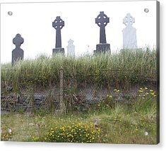 Cemetery On Inisheer Aran Islands Ireland Acrylic Print by Linda Hardin