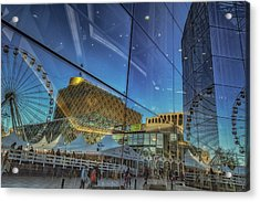 Centenary Square Reflections Acrylic Print by Chris Fletcher