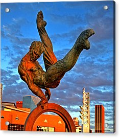 Centennial Park Statue 001 Acrylic Print by George Bostian