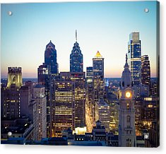 Center City Philadelphia Acrylic Print by Aaron Couture
