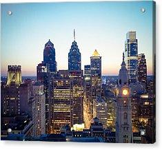 Center City Philadelphia Acrylic Print by Aaron Couture