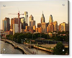 Acrylic Print featuring the photograph Center City Philadelphia by Ed Sweeney