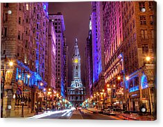 Center City Philadelphia Acrylic Print by Eric Bowers Photo
