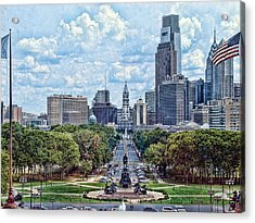 Center City Philly Acrylic Print by Kevin  Sherf
