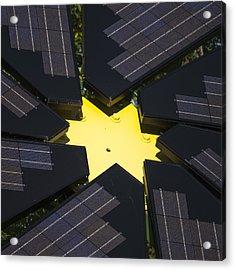 Center Of Solar Panel Array Acrylic Print