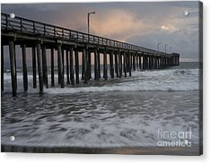 Central Coast Pier Acrylic Print by Ronald Hoggard