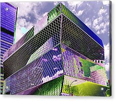 Central Library  Seattle Acrylic Print by Tim Allen