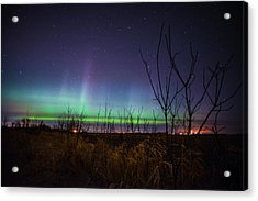 Acrylic Print featuring the photograph Central Minnesota Aurora by Alex Blondeau