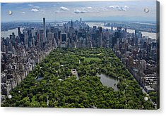 Acrylic Print featuring the photograph Central Park Aerial by Rand