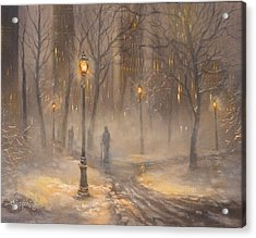 Central Park After Dark Acrylic Print by Tom Shropshire
