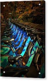 Central Park Bikes Acrylic Print by Trish Tritz