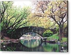 Central Park Bridge Acrylic Print by Al Blackford