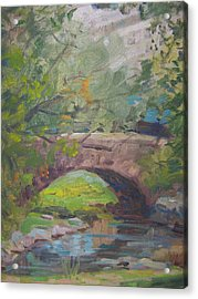 Central Park Bridge Acrylic Print