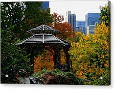 Central Park Gazebo Acrylic Print by Christopher Kirby