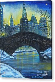 Central Park Acrylic Print by Nancy Rucker