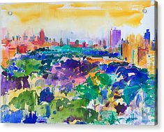 Central Park New York Acrylic Print by Peter Graham
