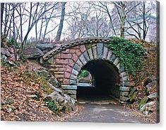 Central Park, Nyc Bridge Landscape Acrylic Print