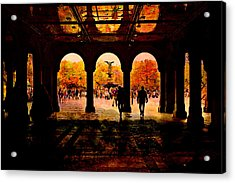 Central Park Nyc  Under The Bridge Acrylic Print