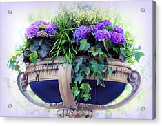 Acrylic Print featuring the photograph Central Park Planter by Jessica Jenney