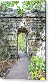 Central Park Ramble Archway Acrylic Print by A New Focus Photography