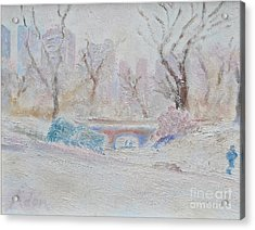 Central Park Record Early March Cold Circa 2007 Acrylic Print