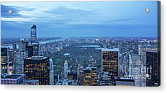 Central Park Skyline Acrylic Print by Joan McCool