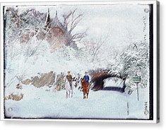 Central Park Snow Acrylic Print