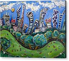 Central Park South Acrylic Print by Jason Gluskin